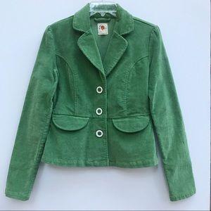 Anthro TULLE green corduroy blazer jacket